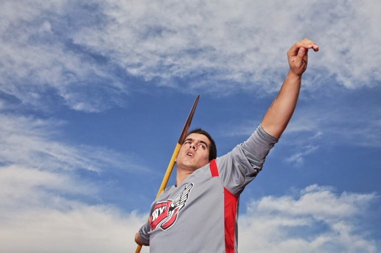 Ignacio+Guerra+prepares+to+throw+a+javelin+at+practice+on+Wednesday%2C+April+13%2C+2011.+Guerra+competed+for+Chile+in+the+2008+Beijing+Olympics+and+is+hoping+to+compete+for+Chile+again+this+summer+in+the+London+Olympics.%0A
