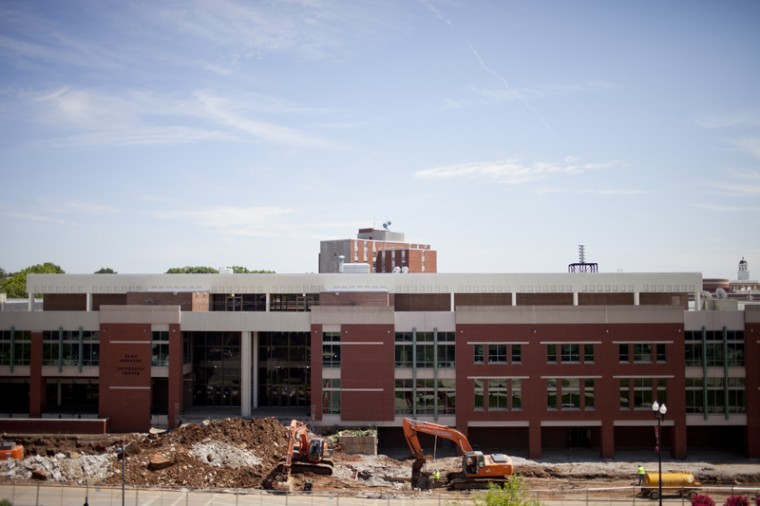 Downing University Center is seen under construction in this May 3, 2012 file photo.