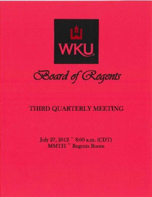 Notebook:  Approvals in the Board of Regents Third Quarterly Meeting