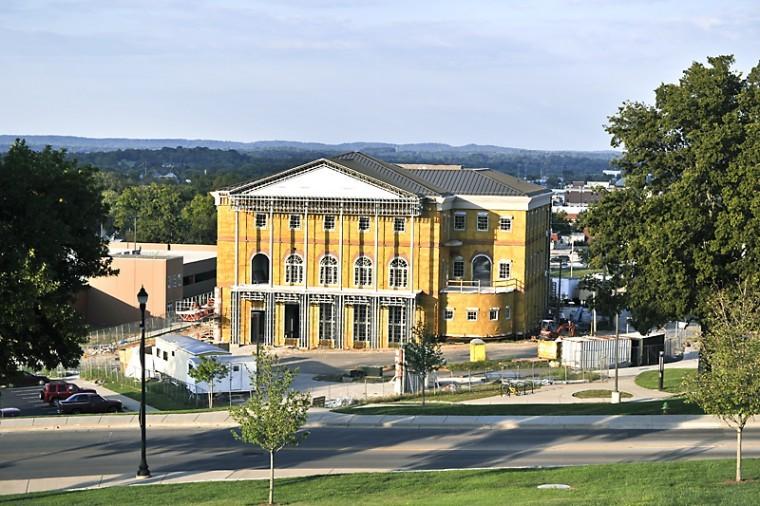 JEFF BROWN/Herald The Augenstein Alumni Center started construction on July 15, 2011.
