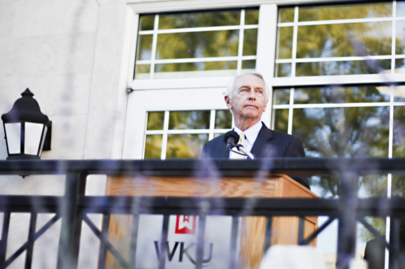 Rae Emary/Herald Governor Steve Beshear appeared at a reception held by the Gatton Academy. The reception was thrown as celebration for the academy receiving Newsweek Magazine's Award of Best Public High School.