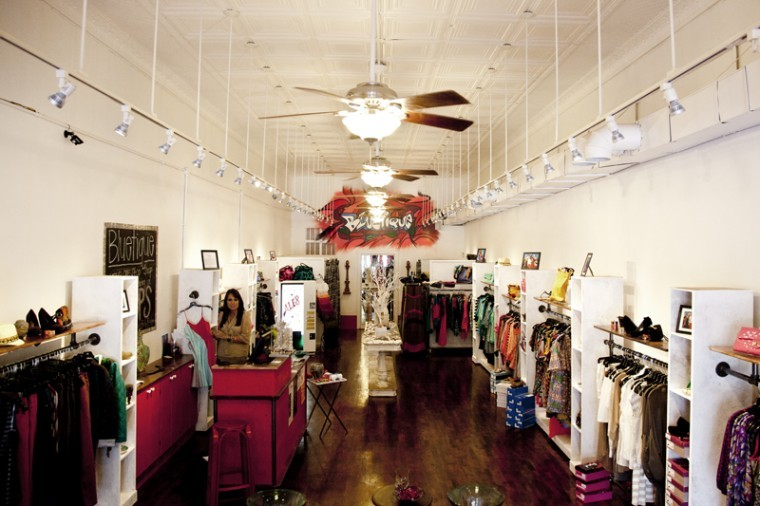 Bluetique, which originated in Lexington, is a 'cheap chic' shop that targets fashionable college girls.