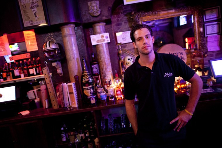 Russellville+senior+Brandon+Thomas+works+as+a+bartender+at+440+Main+in+Bowling+Green.+Thomas+has+been+bartending+since+he+was+20+years+old%2C+he+is+now+27.%0A