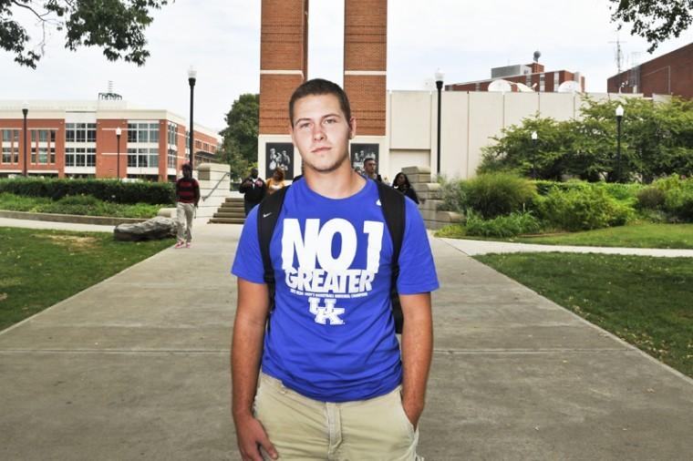 Blake Holley, WKU freshmen from Bowling Green, is a UK fan.