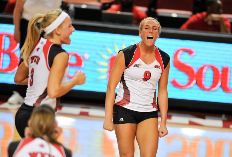 WKU volleyball won 3-0 against Troy at Diddle Arena on Friday Sept. 21, 2012.