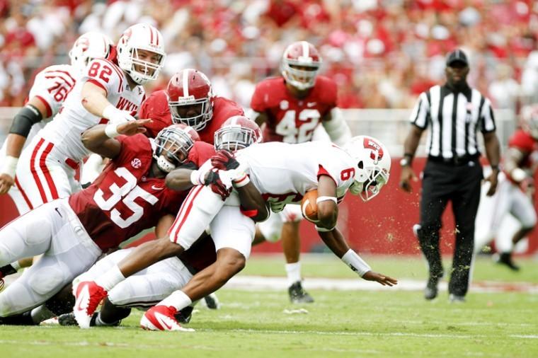 The+Alabama+defense+tackles+WKU%27s+Kawaun+Jakes+Saturday%2C+Sept.+8+at+Bryant-Denny+Stadium+in+Tuscaloosa%2C+Ala.%0A