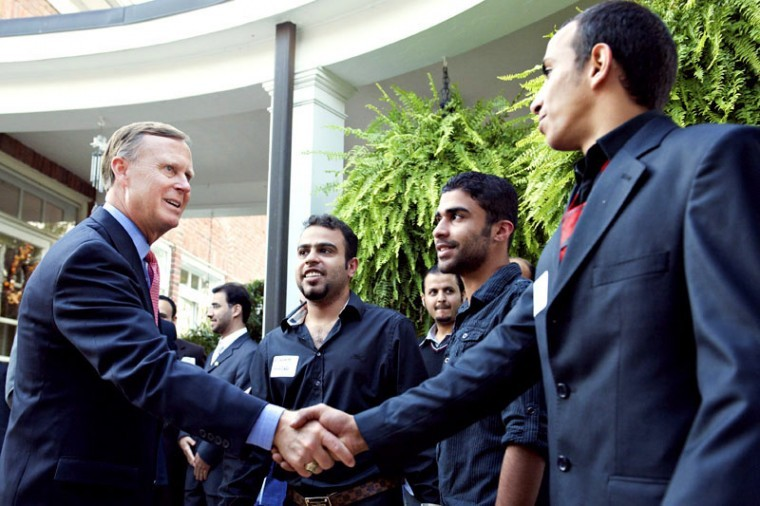 President+Gary+Ransdell+%28left%29+greets+Saudi+Arabian+students+and+officials+before+a+dinner+gathering+Tuesday%2C+Oct.+23%2C+2012+at+the+Presidents+home.+President+Ransdell+and+his+wife%2C+Julie%2C+hosted+nearly+200+Saudi+Arabian+students+along+with+officials+from+Saudi+Arabia+who+are+visiting+to+learn+more+about+Western+Kentuckys+Center+for+Gifted+Studies.+In+recent+years%2C+Saudi+Arabia+has+sent+more+students+to+Western+Kentucky+University+than+any+other+country.+%28Photo+by+Joshua+Lindsey%2FHerald%29%0A