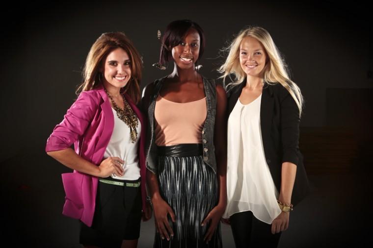 Monta Reinfelde, Zirconia Alleyne and Amber Plunkett