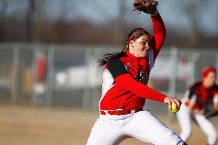 Sophomore+pitcher+janna+Scheff+pitches+the+ball+during+the+WKU+vs.+Dayton+softball+game+at+Buchanon+Field+on+Sunday%2C+February+24.%0A