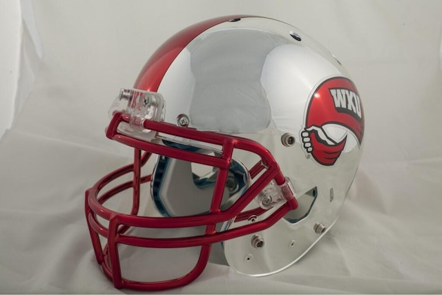 The+chrome+helmet+was+unveiled+in+March.+The+uniforms+displayed+July+18+will+match+the+helmet+with+a+futuristic+look.