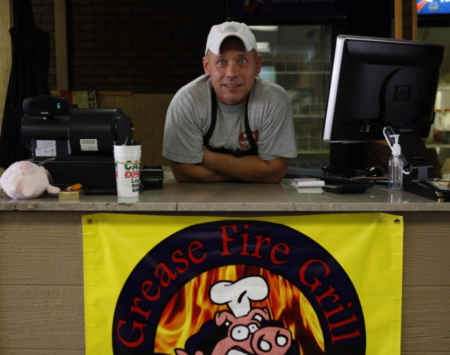 Dock Scott, owner of Grease Fire Grill on Old Morgantown Road, has been in business for two months. The restaurant has recently extended it's hours on several days a week to be open late into the night and serve breakfast.