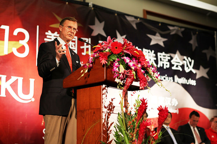 President+Gary+Ransdell+speaks+to+the+participants+of+the+first+Joint+Meeting+of+the+United+States+Confucius+Institutes+held+in+the+United+States.+More+than+260+delegates%2C+representing+91+universities%2C+were+in+attendance+along+with+U.S.+Sen.+Rand+Paul%2C+state+Reps.+Jim+DeCesare+and+Jody+Richards%2C+Middle+Tennessee+State+University+President+Sidney+McPhee%2C+and+Director-General+of+Hanban+and+Chief+Executive+of+the+Confucius+Institute+Headquarters+Madame+Xu+Lin.