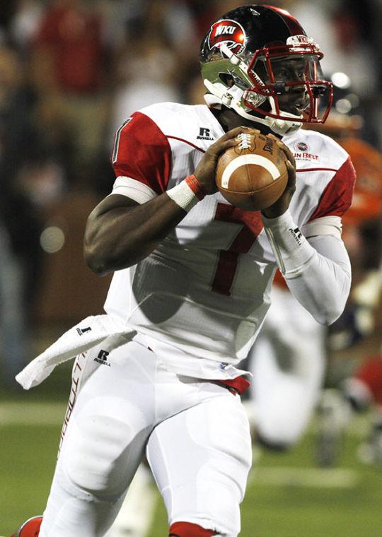 WKU freshman quarterback Damarcus Smith prepares to throw the ball downfield during Saturday's game against Morgan State University.