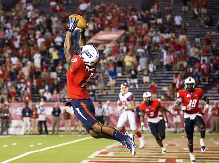 South Alabama cornerbackTyrell Pearson intercepts a Brandon Doughty pass in the end zone for the last play of the game Saturday as WKU lost 31-24 to South Alabama.