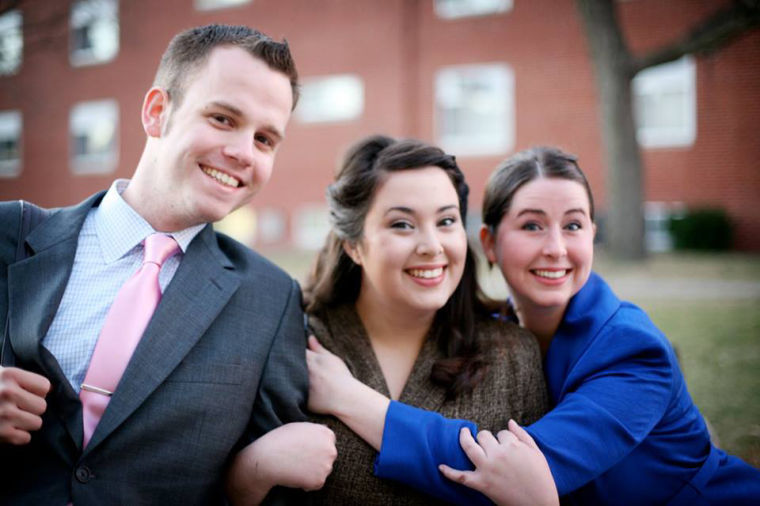 Photo courtesy of Carrie Guggenmos. From left to right: Matt Whitman, Alexis Elliott and Liz Owens Courtney are all former debaters and members of the speech team. Whitman and Courtney graduated from WKU in 2012.
