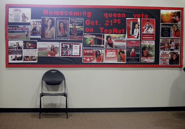 The homecoming bulletin board.