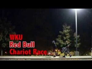 Makeshift chariots race for the finish line in Red Bull sponsored event