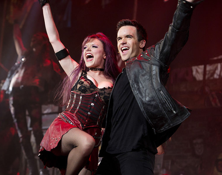 WKU alumni Ruby Lewis and Brian Justin Crum in the national tour of We Will Rock You.