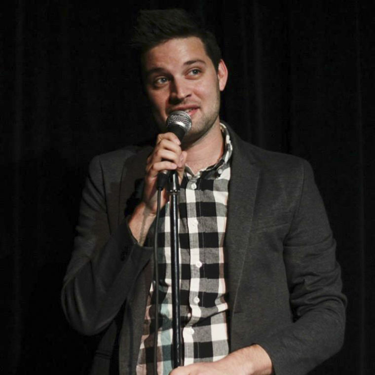 2005+WKU+graduate+Joe+Starr+performs+a+stand-up+act+in+San+Francisco.+Photo+courtesy+of+Spitfire+Creative.