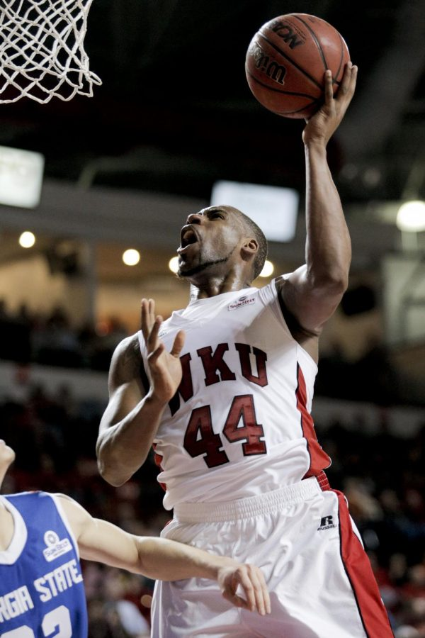 WKU junior forward George Fant shoots a layup during the first half of WKU's game against Georgia State in Diddle Arena on Thursday, Jan. 9.