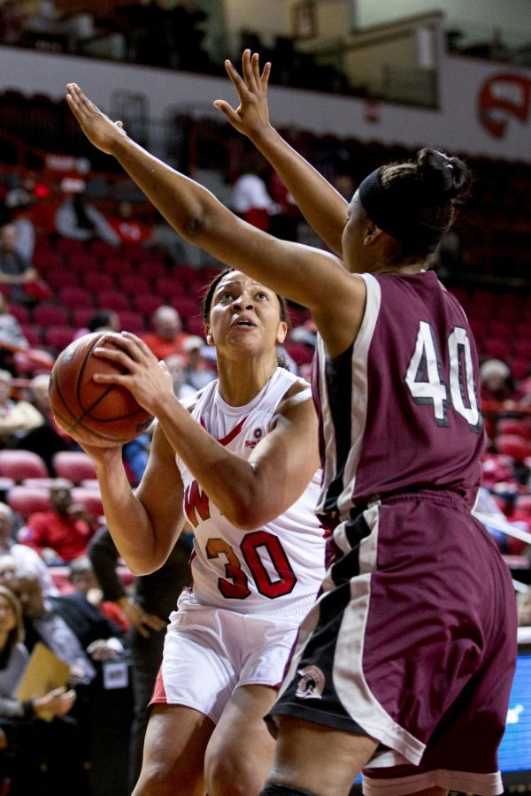 WKU+junior+forward+Chastity+Gooch+tries+to+get+around+UALR+forward+Kaitlyn+Pratt+during+the+second+half+of+WKU%27s+65-39+victory+over+the+University+of+Arkansas+Little+Rock+Wednesday%2C+Jan.+15%2C+2014+at+Diddle+Arena+in+Bowling+Green%2C+Ky.