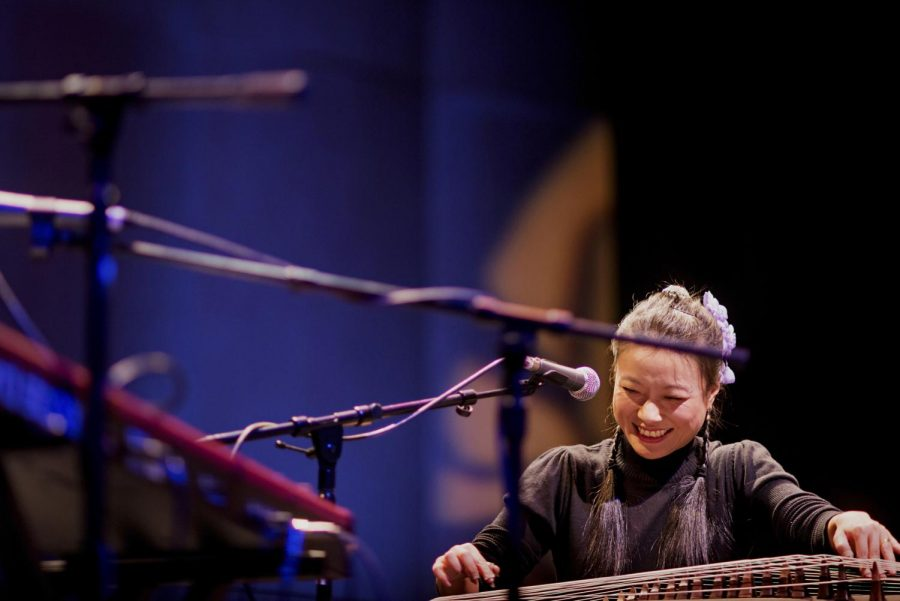 Wu+Fei+plays+the+guzheng+with+her+band%2C+Wu+Force%2C+as+part+of+the+WKU+Cultural+Enhancement+Series+at+WKUs+Van+Meter+Hall+on+Tuesday%2C+Feb.+4.+%E2%80%9CThe+history+of+the+guzheng+is+about+2500+years+%28old%29%2C%E2%80%9D+Fei+said.+%E2%80%9CAnything+that%E2%80%99s+less+than+a+thousand+years+we+think+is+young.%E2%80%9D+%28Brian+Powers%2FHERALD%29