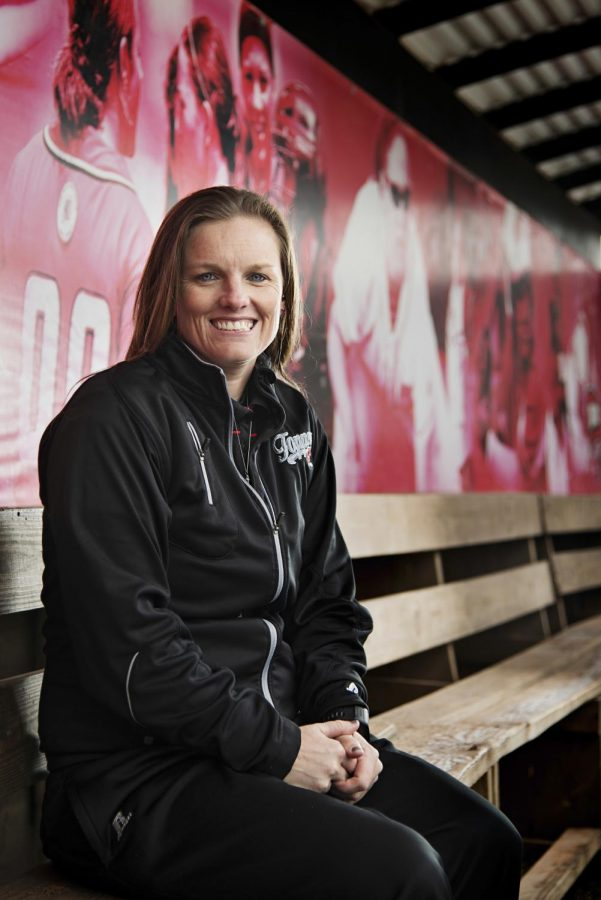 WKUs new softball coach, Amy Tudor, visits WKUs field on Monday, Feb. 3. After graduating from WKU, Tudor coached at Belmont University before coming back to the Hill to lead the team she once represented. (Brian Powers/HERALD)