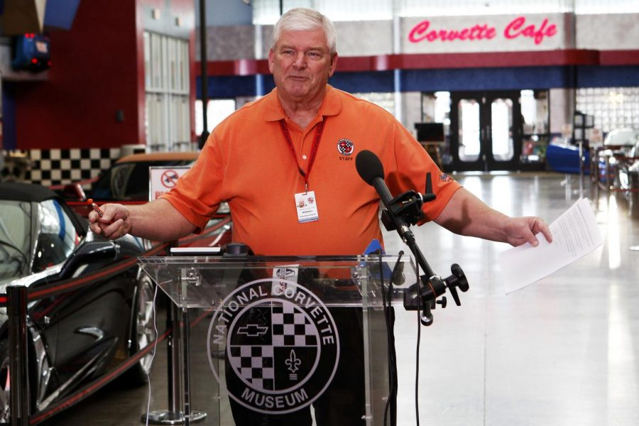 National+Corvette+Museum+executive+director%2C+Wendell+Strode+said+that+August+is+the+target+date+for+the+sinkhole+to+be+fixed.+All+of+us+here+at+the+National+Corvette+Museum+have+emotional+attachment+to+the+cars%2C+Strode+said.+%28Tyler+Essary%2FHERALD%29