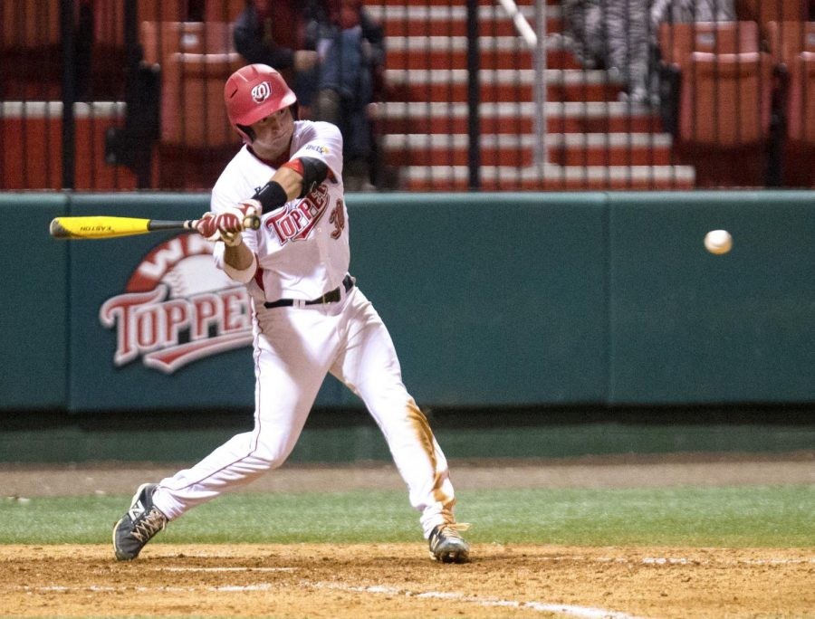 WKU%27s+redshirt+junior+catcher+Ryan+Messex+%2830%29+swings+during+the+Topper%27s+4-1+victory+over+Texas+State+Friday%2C+March+21%2C+2014%2C+at+Nick+Denes+Field+in+Bowling+Green%2C+Ky.+%28Mike+Clark%2FHERALD%29