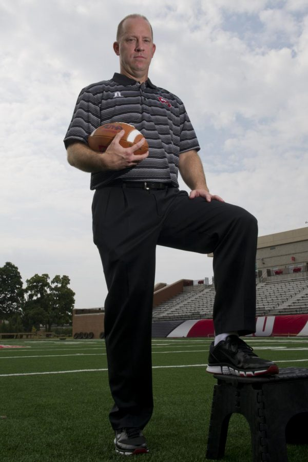 Jeff Brohm steps up to take the place of Bobby Petrino as the new WKU football head coach. Brohm was formerly the the offensive coordinator under Petrino during the 2013 season. JEFF BROWN/HERALD