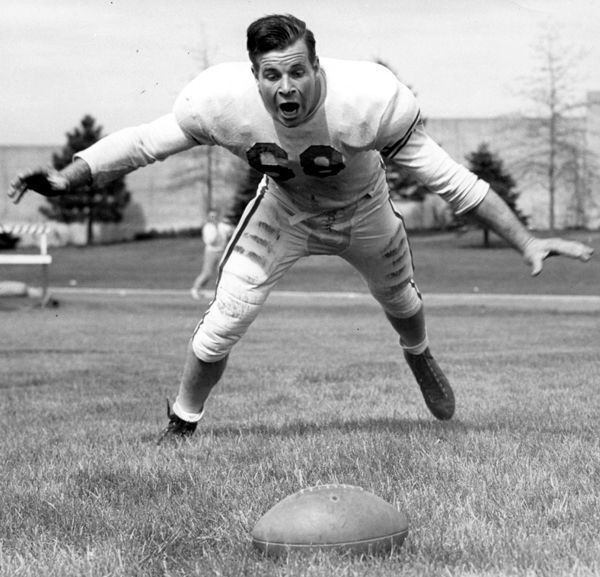 A two-way player for Nebraska in the late 1940s, Tom Novak is NU's only four-time all-conference football selection.