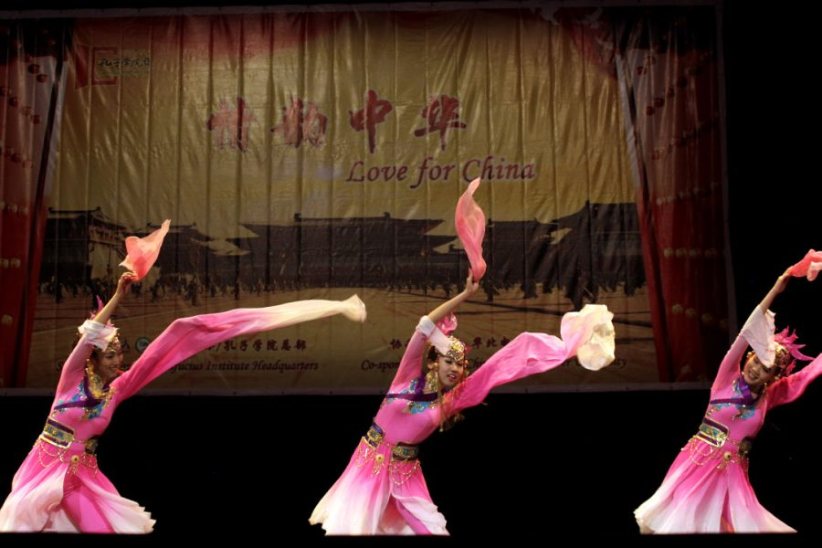 Dancers from North China Electric Power University perform the
