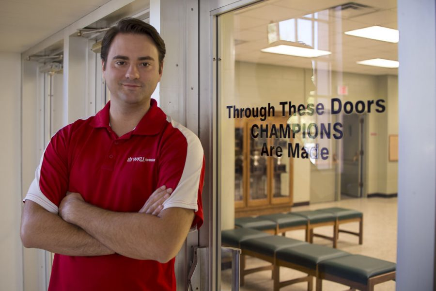 Ganer Newman, IV, director of forensics, always wanted to help people prepare for events. He found his niche when he was a member of the forensics speech and debate team during his time as a student at WKU. Alyssa Pointer/HERALD