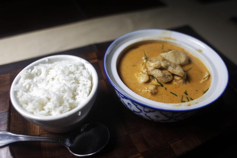 Panang Curry with chicken from Thai Thai at 712 Chestnut St. in Bowling Green. Alyssa Pointer/HERALD