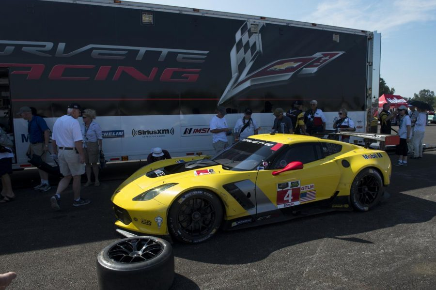 The+new+Corvette+C7-R+race+car+took+hot+laps+around+the+newly+built+Motorsports+Park+in+Bowling+Green+during+the+Corvette+Museum%27s+20th+anniversary+celebration+on+Aug.+29.+William+Kolb%2FHERALD