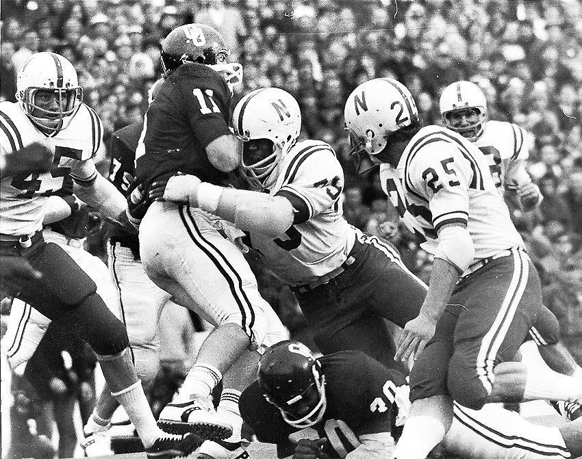 Rich+Glover+%2879%29+brings+down+Oklahoma+quarterback+Jack+Mildren+in+the+Game+of+the+Century.+Glover%2C+from+Jersey+City%2C+is+one+of+several+standout+ex-Huskers+to+come+out+of+New+Jersey.+Now%2C+with+Rutgers%2C+the+state+has+a+Big+Ten+school.