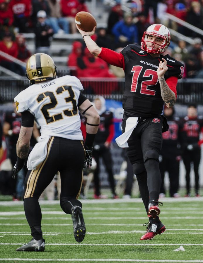 WKU quarterback Brandon Doughty releases the ball during Saturday's game against Army at Houchens-Smith Stadium in Bowling Green, Ky. Nick Wagner/HERALD