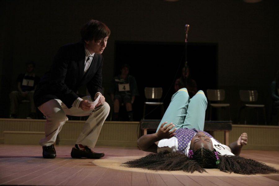 Micah Landers and Murfreesboro Freshman Alexandra Gray perform a flashback scene from the upcoming play