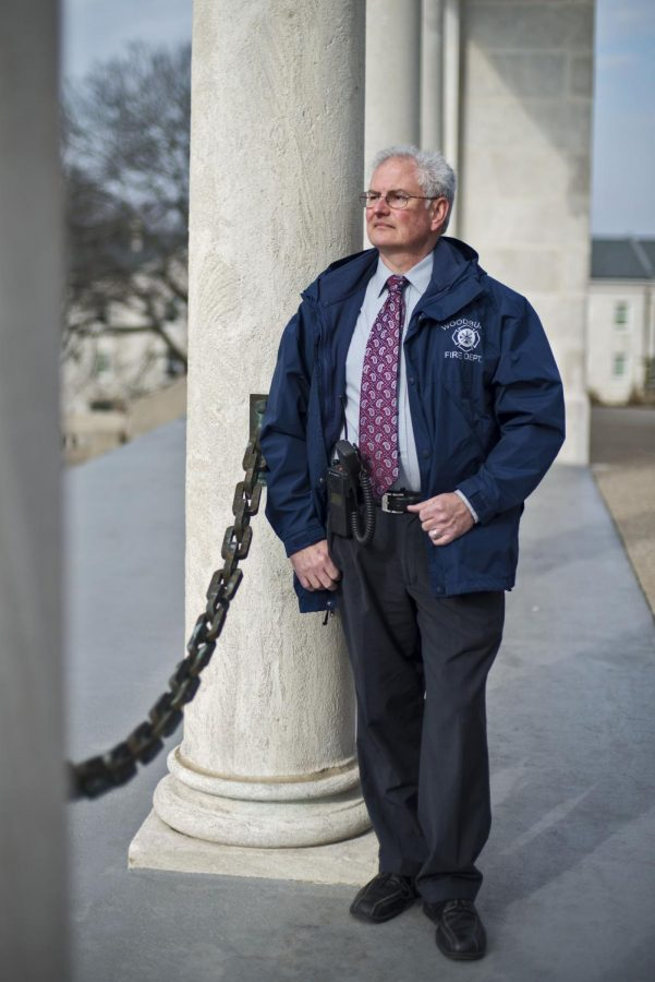 WKU Director of Media Relations Bob Skipper looks upon the Colonnades on Feb. 11. Skipper is the current chief of the Woodburn Volunteer Fire Department. He has been with the group for over 25 years. Photo by William Kolb/HERALD