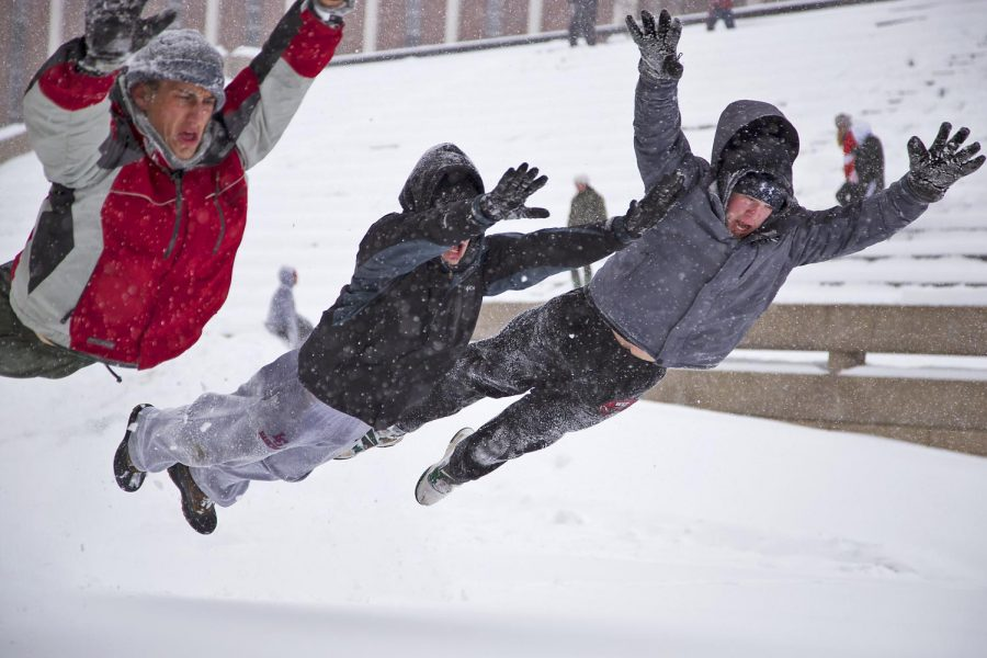 Junior+Evan+Mack+%28from+left%29%2C+sophomore+Tanner+Leigh+and+sophomore+Josh+Wellum+layout+in+the+snow+in+front+of+the+Ivan+Wilson+Fine+Arts+Center%2C+Monday%2C+February+16%2C+2015.+The+three+students%2C+along+with+many+others+around+campus%2C+used+the+first+snow+day+of+the+semester+to+play+in+the+snow.+The+National+Weather+Service+estimated+10+to+15+inches+of+snow+accumulation+over+most+of+central+Kentucky.+Photo+by+Alyssa+Pointer%2F+WKU+HERALD