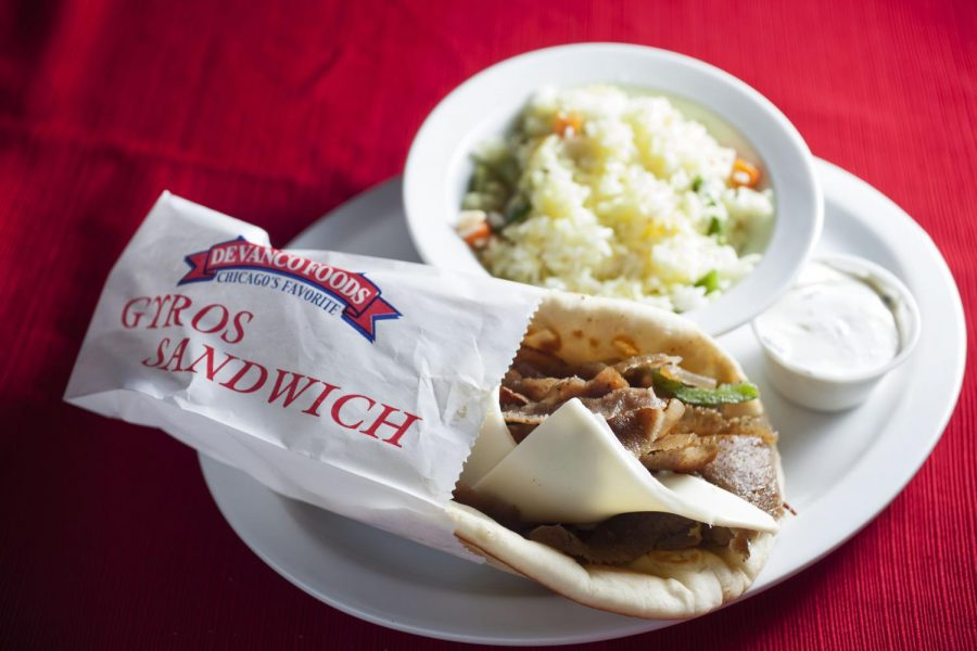 A Taste of Europe is a Greek restaurant on State Street that offers discounts to college students with their student I.D. Featured, is a Western Gyros sandwich with a side of rice. Erica Lafser/HERALD