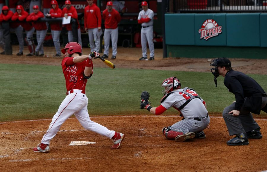 Louisville+senior+Ryan+Messex+bats+in+a+game+against+OSU%2C+March+8%2C+2015.+WKU+finished+the+game+with+one+run+to+OSUs+10%2C+and+the+two+teams+played+again+the+next+day.+Leanora+Benkato%2FHERALD