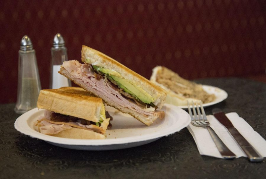 A turkey, bacon and avocado sandwich at JD's Bakery & Cafe