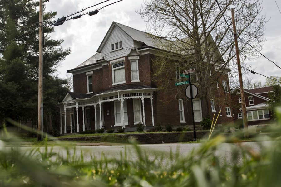 The Bowling Green Police Department searched and seized items from 1303 Chestnut Street, where the alleged hazing occurred. LUKE FRANKE/HERALD