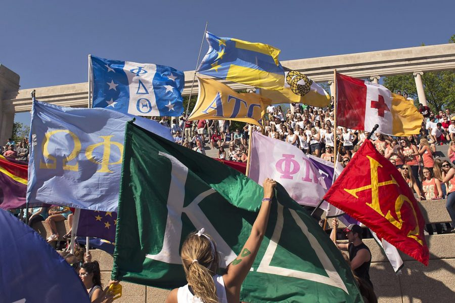 Over+10+fraternities+and+sororities+showed+up+to+compete+in+the+Greek+Week+events+day+on+Thursday+April+23%2C+2015+outside+of+FAC.+WKU+fraternities+and+sororities+compete+in+different+events+for+Greek+Week+at+FAC+on+Thursday+April+23%2C+2015.