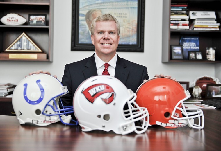 Todd Stewart was named WKU's Athletics Director in May 2012. Stewart previously worked for the Indianapolis Colts and Cleveland Browns.