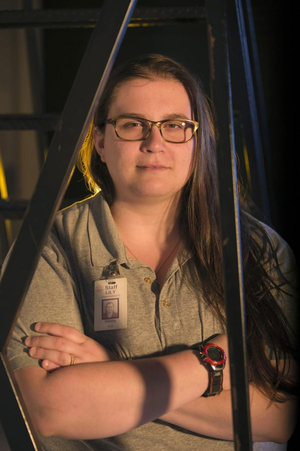 Psychology major Lily O'Shaughnessy of Franklin has worked at Warren County Regional Jail for about three years. O'Shaughnessy said her job covers