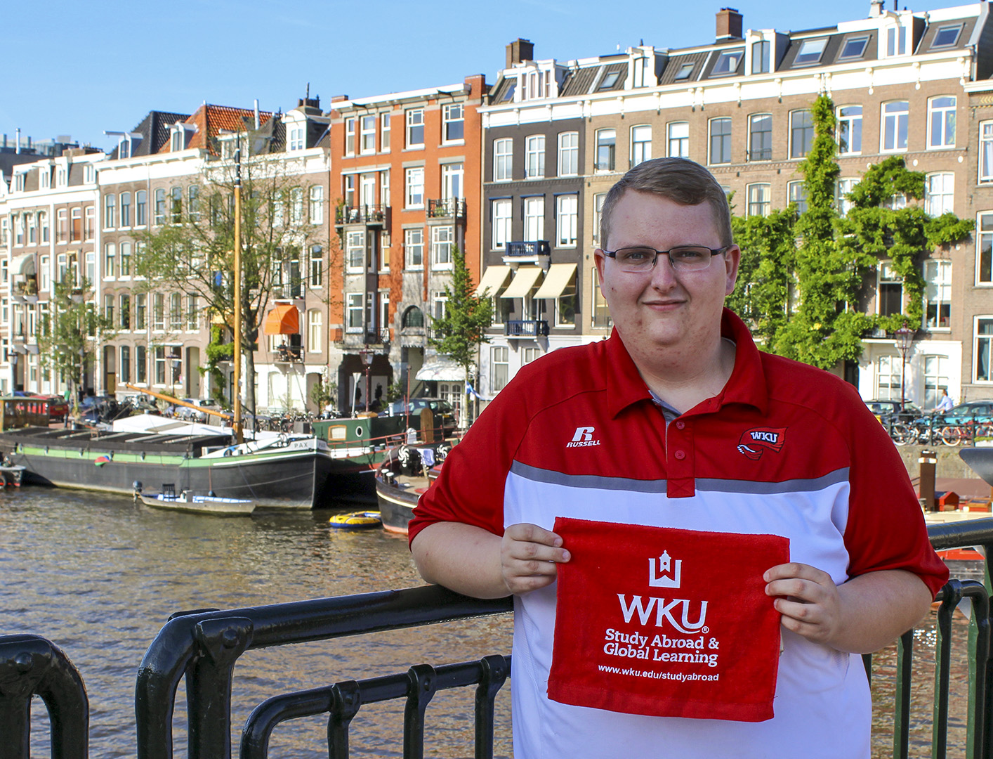 Tompkinsville senior Evan Brown studied abroad in Amsterdam this summer. Photo submitted by Evan Brown