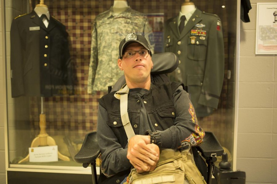 Shawn Sattazahn, a 34-year-old ROTC student at WKU, was born with an advanced form of cerebral palsy. He hopes to skydive and says,