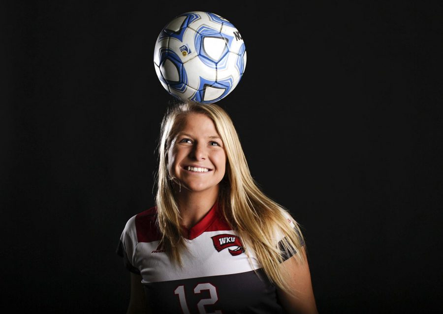 Junior Iris Dunn is a nursing major at WKU. The 20 year-old from Tavernier, Florida plays a forward posistion on the WKU women's soccer team. Alyse Young/HERALD